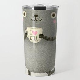 I♥kill (brown) Travel Mug