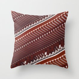 Pagoda roof pattern Throw Pillow