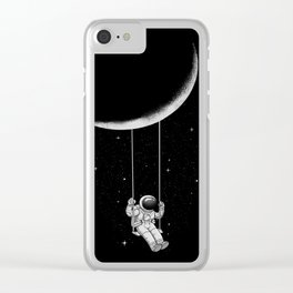 Moon Swing Clear iPhone Case