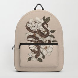Snake and Magnolias Backpack