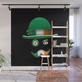 Irish Flag Face. Wall Mural