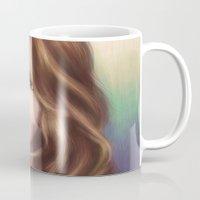 jennifer lawrence Mugs featuring Jennifer by Alanna791