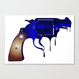 Melting Gun Canvas Print