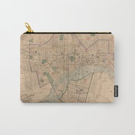 Vintage Map of Richmond Virginia (1876) Carry-All Pouch