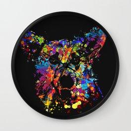 Colorful  Corgi Portrait Wall Clock