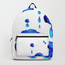 DRIPPING WET BLUE ROSES  DESIGN Backpack