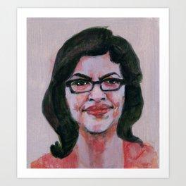 Rashida Tlaib Art Print