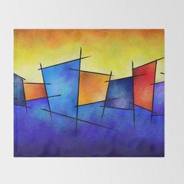 Esseniumos V1 - square abstract Throw Blanket