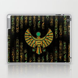 Egyptian Horus Falcon gold and color crystal Laptop & iPad Skin