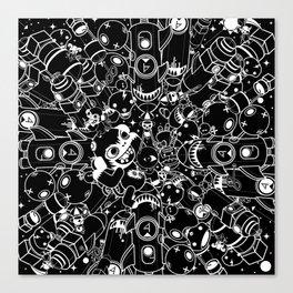 For Good For Evil - Black on White Canvas Print