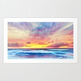 Lonas planet stormy evening Art Print