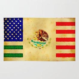 MEXICAN AMERICAN FLAG - 017 Rug