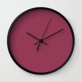 Heart of the Garden ~ Plum Wall Clock