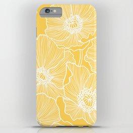 Sunshine Yellow Poppies iPhone Case