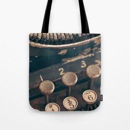 Vintage Typewriter - Macro Photography #Society6 Tote Bag