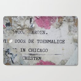 Urban poetry Cutting Board