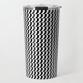 Orange: Black And White Pattern Travel Mug