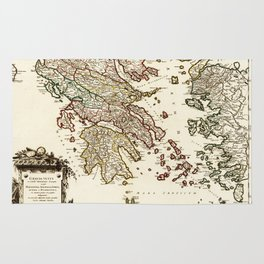 1752 Map of Greece Rug