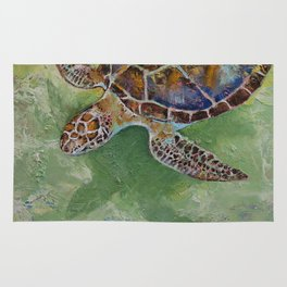 Caribbean Sea Turtle Rug