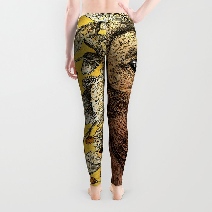 Tawny Owl Yellow Leggings