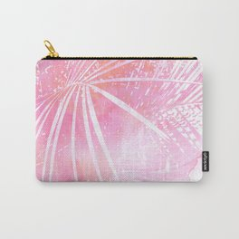 Abstract Pink Palm Tree Leaves Design Carry-All Pouch