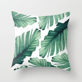 Tropical Banana Leaves Dream #3 #foliage #decor #art #society6 Throw Pillow