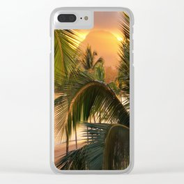 Kauai Tropical Island by OLena Art Clear iPhone Case
