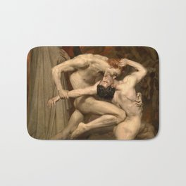 Dante and Virgil in Hell Bath Mat