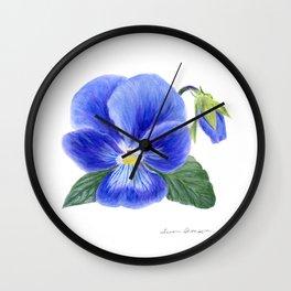 Purple Pansy by Teresa Thompson Wall Clock
