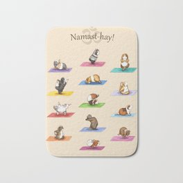 The Yoguineas - Yoga Guinea Pigs - Namast-hay! Bath Mat