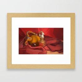 Red Still Life Framed Art Print