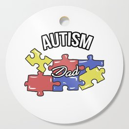 Autism Dad Autistic Awareness Day Asperger Gift Cutting Board