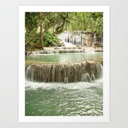 Zen Waterfalls Harmony Art Print