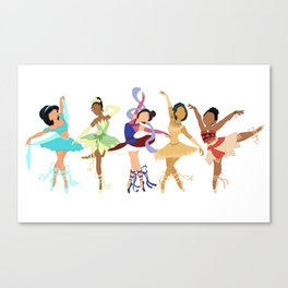 Ballerina Princesses of Color Canvas Print