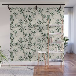 OLIVE BLOOM Wall Mural