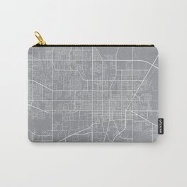 Gainesville Map, Florida USA - Pewter Carry-All Pouch