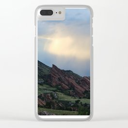 Red Rocks at Dusk Clear iPhone Case