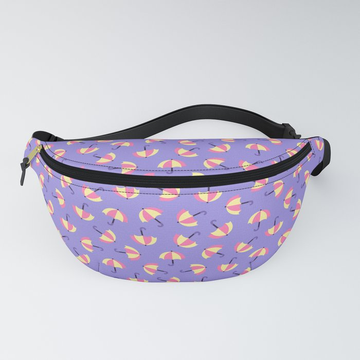 Pink and yellow umbrellas Fanny Pack