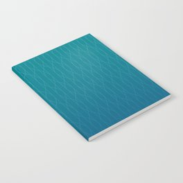 Wave pattern in teal Notebook