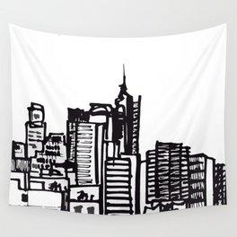 City Landscape monochromatic Wall Tapestry