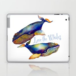 Love the Whales Laptop & iPad Skin