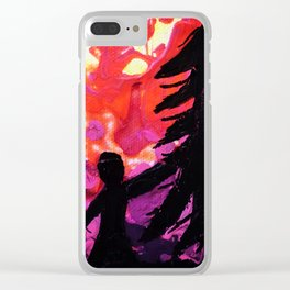 Tree Lady Clear iPhone Case