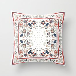 Fantasy flower scarf Throw Pillow