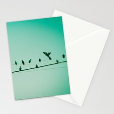 Life on the wire Stationery Cards