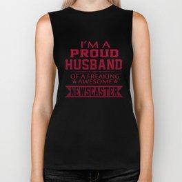 I'M A PROUD NEWSCASTER'S HUSBAND Biker Tank