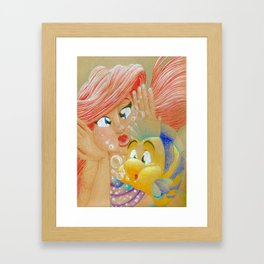 Fish Face! Framed Art Print
