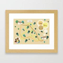 Goldilocks map Framed Art Print