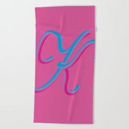 Letter K Beach Towel