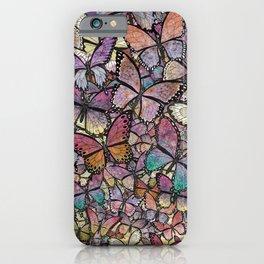 butterflies aflutter rosy pastels version iPhone Case