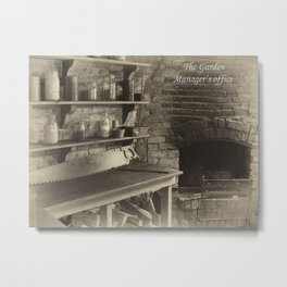 The managers office - aged Metal Print